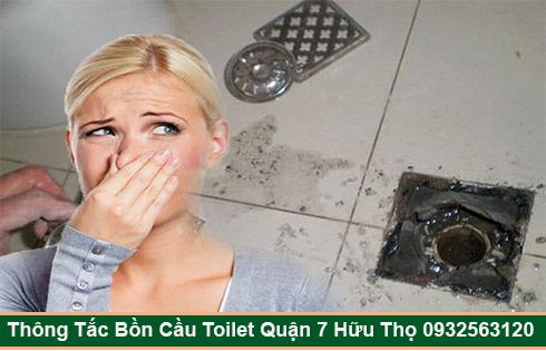 Xử lý mùi hôi bồn cầu toilet nhà vệ sinh Quận 7 Hữu Thọ 093 256 3120.