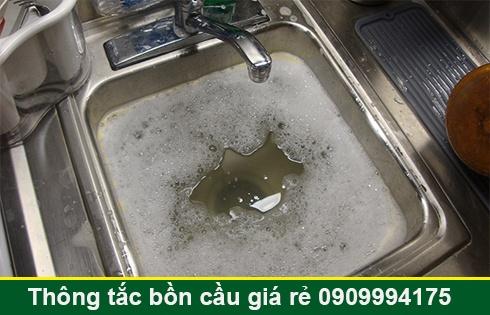 Thông tắc bồn rửa chén bát bị trào ngược Quận 7 lh:0903737957