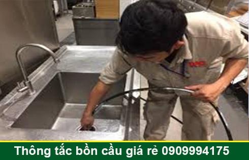 Thợ thông tắc bồn rửa mặt lavabo Quận 7 giá rẻ 0903737957