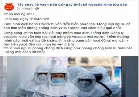 Công ty thiết kế website nina saigontel phần mềm Quang Trung có lừa đảo hay là không